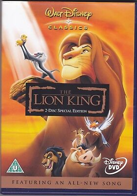 The Lion King (DVD, 2 Disc Special Edition) A Great Disney Animated Movie