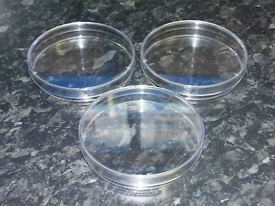 plastic petri dish lab supplies medical 90 mm diameter with lid pack of 3