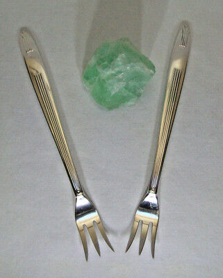 Reed & Barton Silverplate 1937 SOCIALITE Set Of 2 COCKTAIL SEAFOOD FORKS