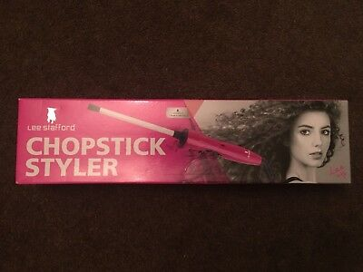 Lee Stafford Chopstick Styler™ Ceramic Curling Wand Styler Tong - FREE POSTAGE