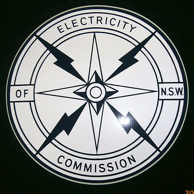 Vintage Decal~Sticker~Electricity Commission Of N.s.w #3