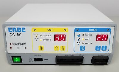 ERBE ICC 80 Electrosurgical Generator with Footswitch & Biomedical Certification