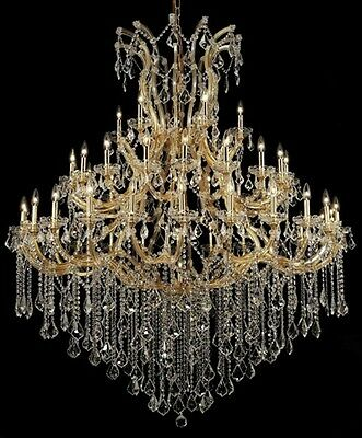 "Palace  49 Light Maria Theresa Crystal Chandeliers light  Gold 60""x72"""