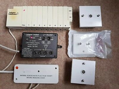 Labgear Cable Vision 8 + 1 and 4 way  Distribution Amplifiers UHF VHF and more