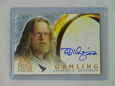Topps Lotr Rotk Bruce Hopkins As Gamling Autograph Card Return Of The King
