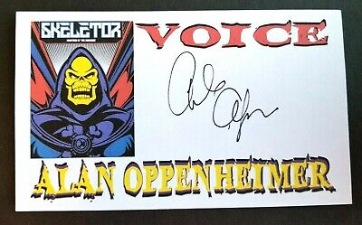 """SKELETOR"" ALAN OPPENHEIMER Autographed 3x5 Index Card"