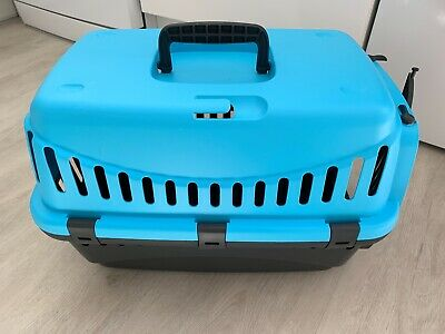 Wilko Pet Carrier Small Animals Blue (Green Available) - Collapsible - Used Once
