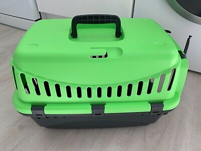 Wilko Pet Carrier Small Animals Green (Blue Available) - Collapsible - Used Once