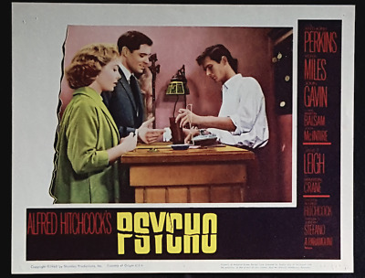 Psycho Anthony Perkins Original1960 Classic Hitchcock Horror Lobby Card 4