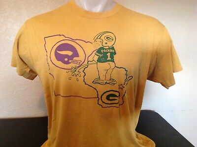 ca28f2e1 VINTAGE GREEN BAY Packers T Shirt Hate The Vikings 50/50 Blend XL ...