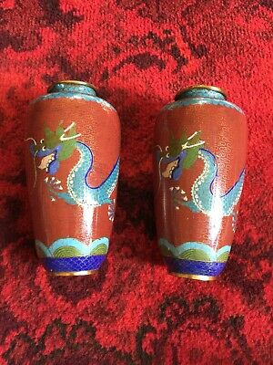 Antique Chinese cloisonné vases, early 20th century