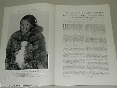 1925 magazine article Sail to North Greenland, natives, Arctic