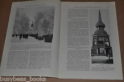 1928 magazine article about Sweden, People, History, etc