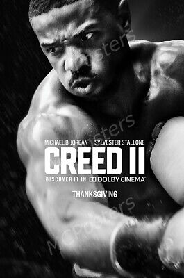 Creed 2 II 24x36inch Tessa Thompson Stallone Rocky Movie Silk Poster Wall Decal