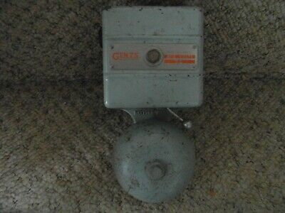 Vintage Fire Alarm Bell, Electric (8-12v) By Gent Of Leicester,