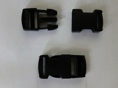 PLASTIC DELRIN SIDE RELEASE BUCKLES FOR WEBBING BAGS STRAPS CLIPS 25mm 10 clips