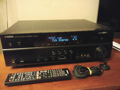 Yamaha RX-V571 7.1 Channel HDMI Home Theater Receiver with Remote and Mic Bundle