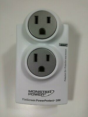 Monster Flat Screen Power PowerProtect 200 Advanced Surge Protection NEW Outlet