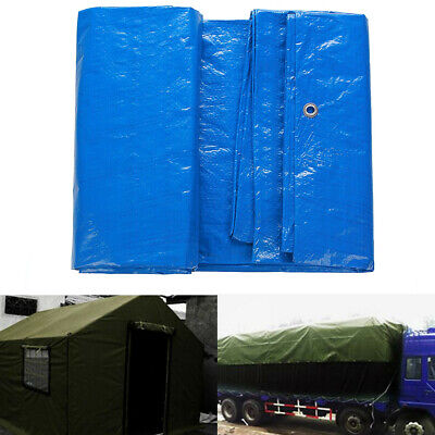 Tarpaulin Cover For Car Truck ATV Outdoor Camping Heavy Duty Waterproof 3.5x5.4m