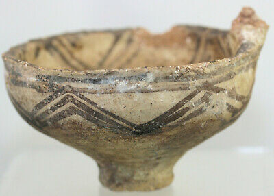 Painted pottery bowl or cup, Greek or Cypriot?