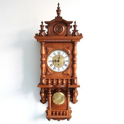 Vintage HERMLE GERMAN Wall Clock WESTMINSTER CHIME HUGE Top Quality! Westminster