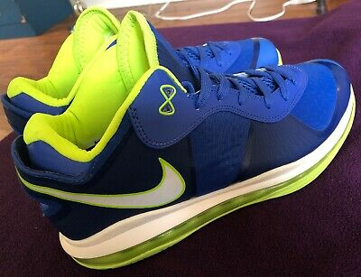 finest selection e52c2 c781f Nike Air Max Lebron 8 Low SPRITE Blue Neon Size 12 VIII 95 Solar Red Fear