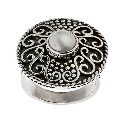 Savati ~ Sterling Silver & Pearl Byzantine Cocktail Ring