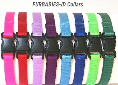 FURBABIES Puppy ID/Whelping Collars/Bands.Soft Nylon Breakaway/Non-Breakaway.