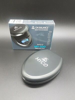 NEW 100 G x 0.01G MY 100 ON BALANCE POCKET DIGITAL MINI JEWELRY WEIGH SCALE