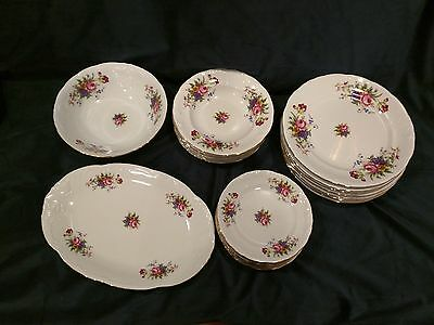 Beautiful Royal Kent Porcelain Poland-24 piece Bavarian Rose  Serv 6 to 8 people
