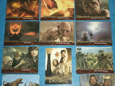 The Lord Of The Rings 'THE TWO TOWERS' Update Complete Base Set Trading Cards