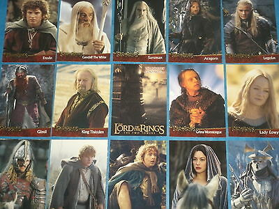 The Lord Of The Rings 'THE TWO TOWERS' Part One Complete Base Set Trading Cards