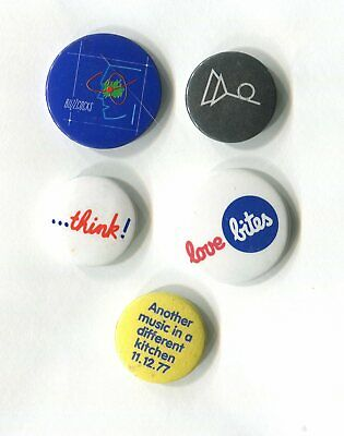 Buzzcocks Vintage Badge Sets. Official Merchandise. Pins Buttons. 16 Badges