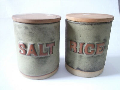 Salt & Rice Containers - Tremar Pottery