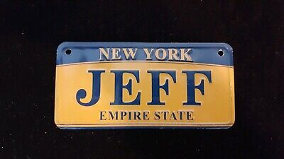 Personalized Custom New York State License Plate Any Name Novelty Auto Car Tag Collectibles Decals/emblems/license Frames