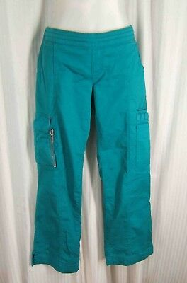 43b31756374 Beyond Scrubs Sz. XS - S Regular Teal Green BLAIRE Drawstring Cargo Scrub  Pants