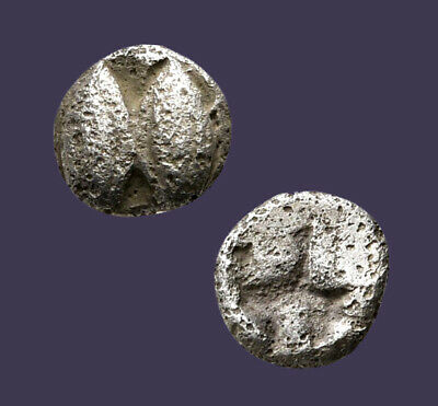 Archaios | Lesbos 1/48th Stater Two Human Eyes / Incuse Punch | Inv#14.18