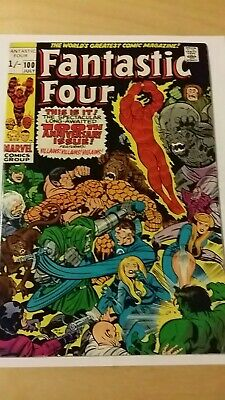 Fantastic Four #100 July 1970 Bronze Age Anniversary Issue Jack Kirby Stan Lee