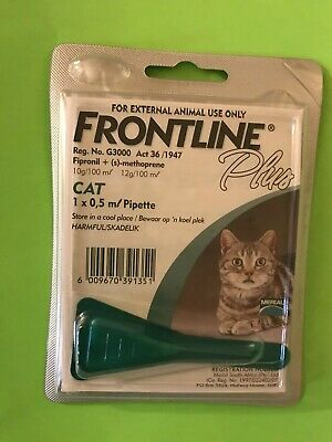 Frontline Plus For Cats (8 Weeks or Older) 1 DOSE, ONE MONTH SUPPLY, Authentic