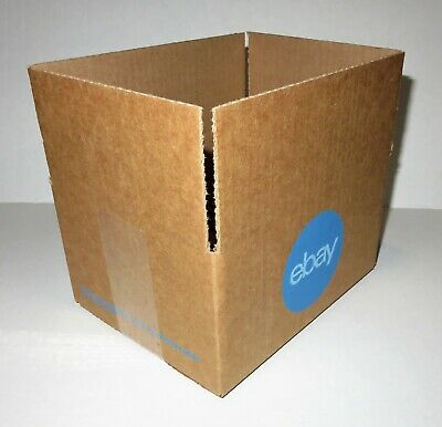 """25 Count EBAY Branded Shipping Boxes 8"""" x 6"""" x 4"""" With Blue 2-Color Logo NEW"""