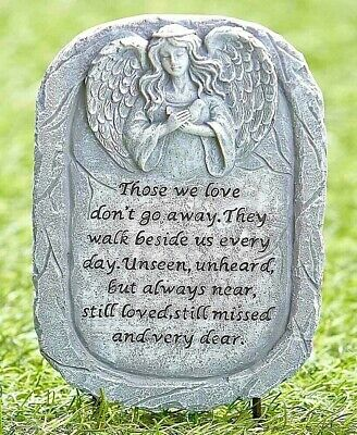 Memorial Stone Pet Dog Cat Friend Angel Stone Statue Garden Grave Marker Memory