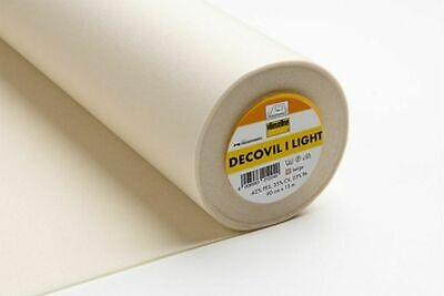 Decovil 1 Light, Lightweight Fusible Interlining Leather-Like Handle 90cm 15m Ro