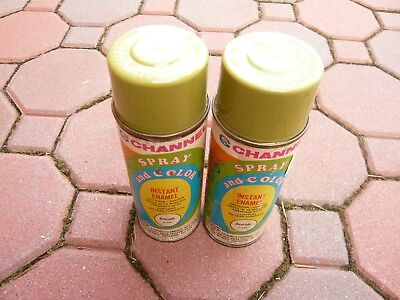 Vintage Channel Spray Paint Can No. C-10 Evocado Enamel Lot of 2 NEW OLD STOCK