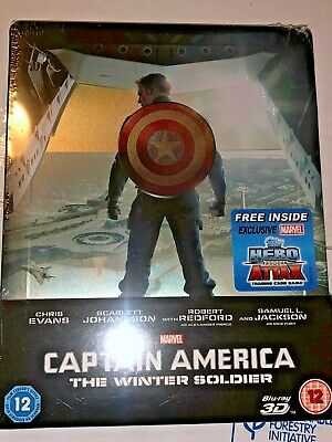 Sealed DISNEY/MARVEL DVD/3D BLU-RAY Steelbook-CAPTAIN AMERICA THE WINTER SOLDIER