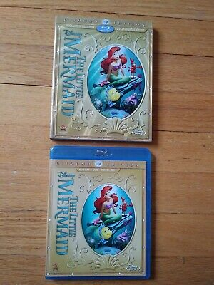 Little Mermaid (Blu-ray/DVD, 2013, 2-Disc Set, Diamond Edition) w/ slipcover