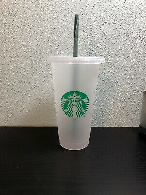 Starbucks MERMAID SIREN Reusable Venti 24 oz Frosted Ice Cold Drink Cup RARE NEW