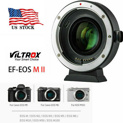 Viltrox EF-EOS M2 Auto Focus Lens Adapter 0.71X for Canon EF Lens to EOS-M50 US