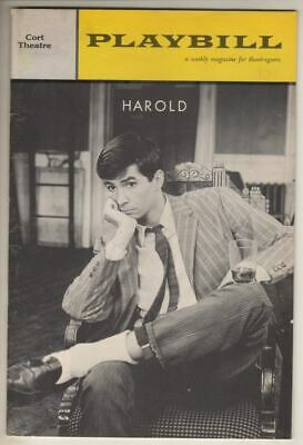 "Anthony Perkins & Don Adams   ""Harold""   Playbill  1962   OPENING NIGHT  FLOP"