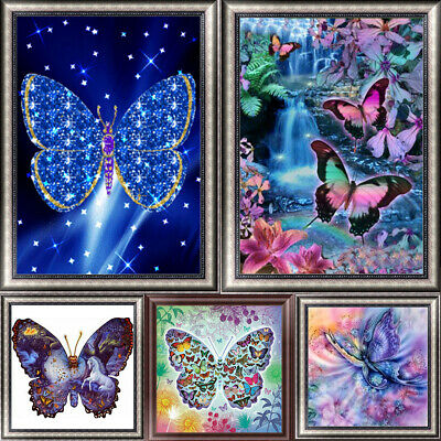 Fashion Butterfly DIY 5D Diamond Painting Kitten Cross Stitch Kits Home Decor