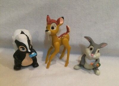 VINTAGE DISNEY TOYS Bambi (2)Thumper (2)and Figurine Set of 4